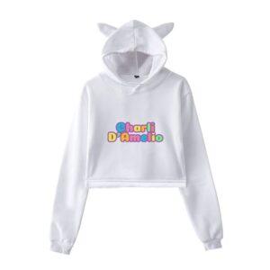 Charli D'Amelio Cropped Hoodie #12